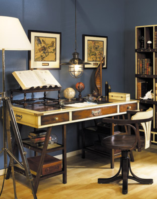 Navigators Desk in Ivory