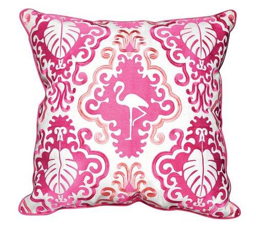 Outdoor Pink Flamingo Pillow
