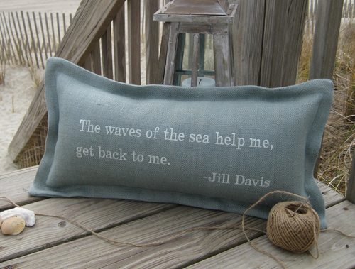 The Waves Of The Sea Coastal Phrase Pillow