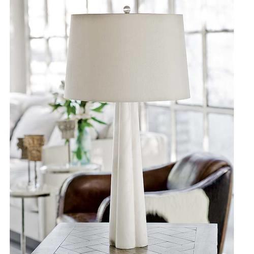 Alabaster Quatrefoil Lamp Large