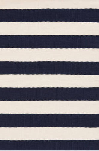Catamaran Stripe Navy and Ivory Indoor/Outdoor Rug <font color=CF2317>20% OFF</font>