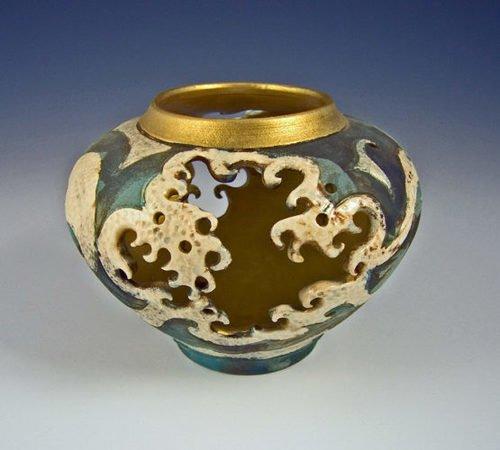 Ceramic Wave Lantern Bowl