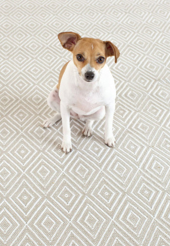 Dash and Albert Diamond Platinum and White Indoor/Outdoor Rug <font color=CF2317>20% OFF</font>