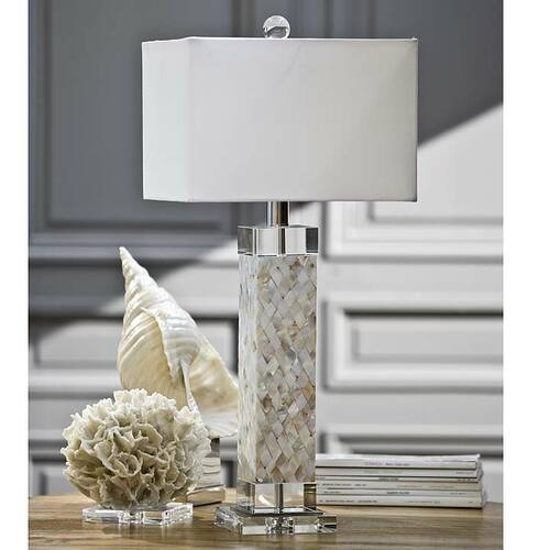 diamond mother of pearl square column lamp for sale. Black Bedroom Furniture Sets. Home Design Ideas