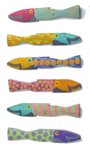 Painted Fence Fish Caribbean Style