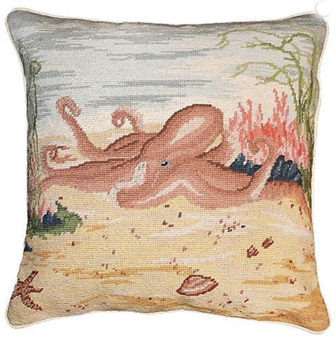 Octopus Needlepoint Pillow