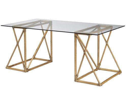 Riva Rattan Desk or Table in Clove or Nutmeg