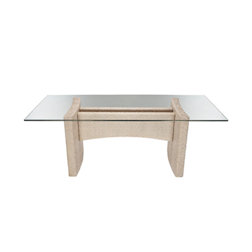 Riva Rattan Rectangular Dining Table in Brown or White