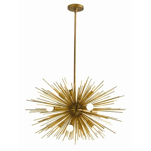 Zanadoo 12L Antique Brass Chandelier Small