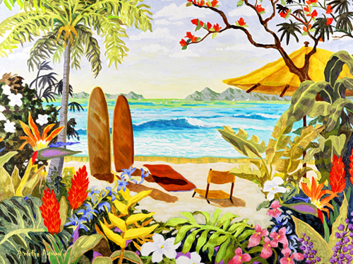 Another Day in Paradise Beach Print