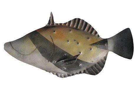 Hawaiian Trigger Fish Metal Art