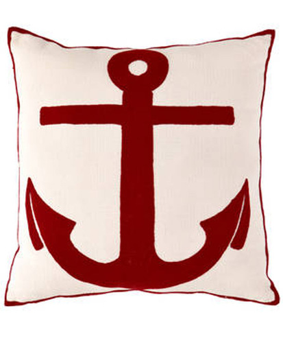 Dash and Albert Admiral Red/Ivory Indoor/Outdoor Pillow