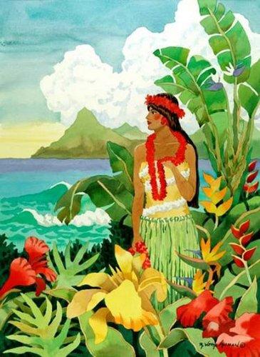 Island Girl Beach Print