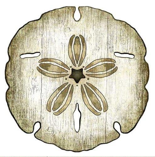 Sand Dollar Wood Cut Art