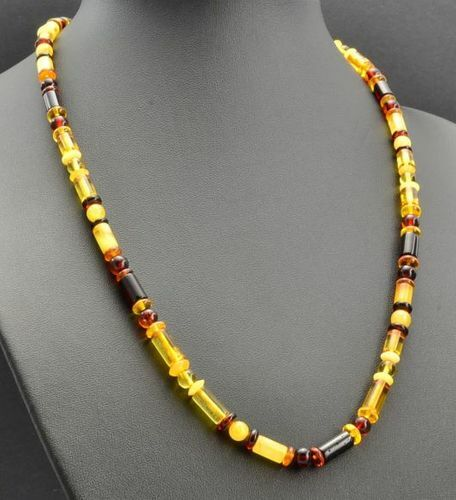 Men's Necklace Made of Precious Baltic Amber