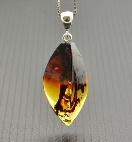 Amber Pendant Made of Amazing Healing Baltic Amber