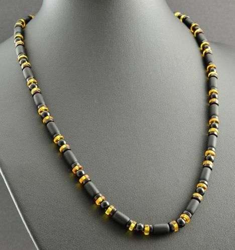 Men's Amber Necklace Made of Precious Healing Baltic Amber