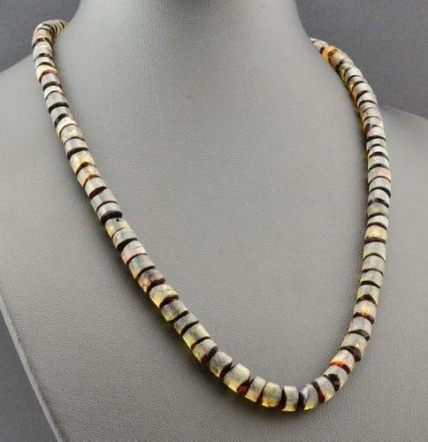 Men's Necklace Made of Precious Healing Baltic Amber