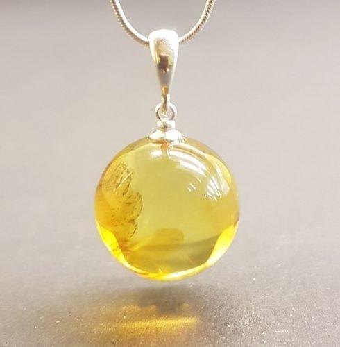 Amber Pendant Made of Precious Healing Baltic Amber