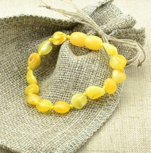 Children's Amber Bracelet Made of Butterscotch Baltic Amber