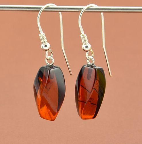 Amber Earrings Made of Amazing Baltic Amber