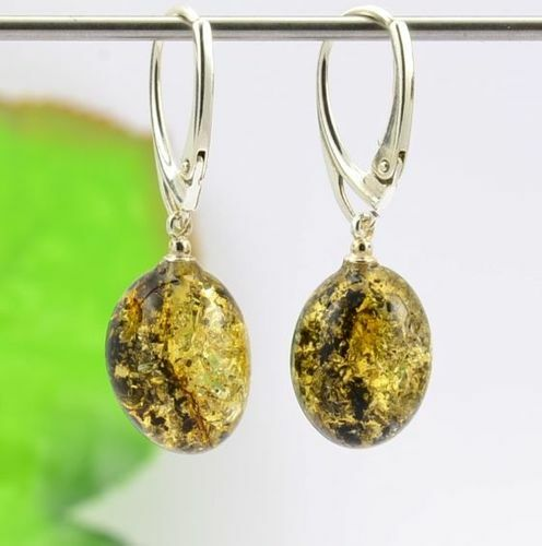 Amber Earrings Handmade of Amazing Baltic Amber