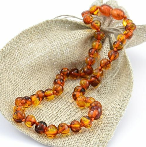 Children's Baltic Amber Necklace Made of Cognac Baltic Amber