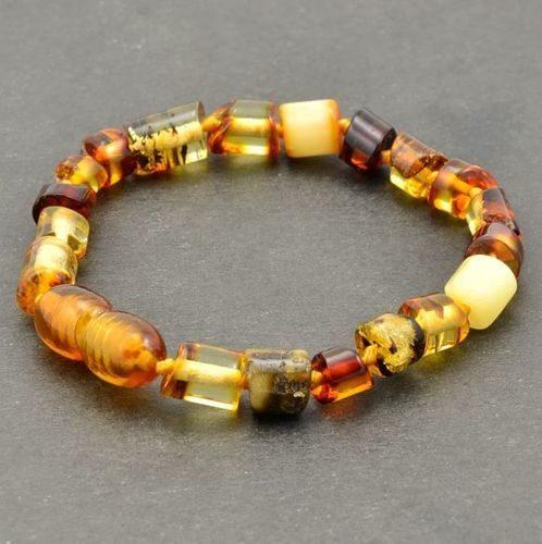 Children's Amber Bracelet Made of Multicolor Baltic Amber