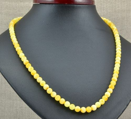 Amber Necklace Made of Butterscotch Baltic Amber