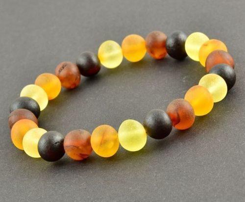 Amber Healing Bracelet Made of Matte Baltic Amber