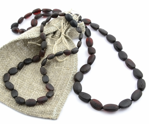Raw amber teething necklace - SOLD OUT
