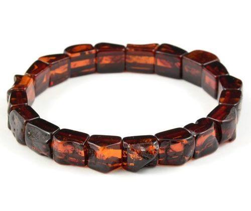Amber Bracelet Made of Precious Cherry Baltic Amber