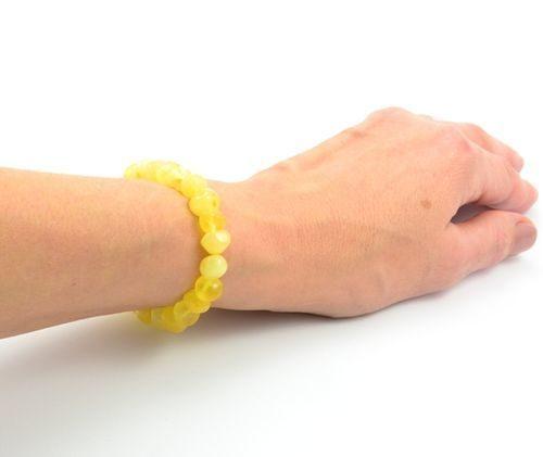 Amber Healing Bracelet Made of Butterscotch Baltic Amber