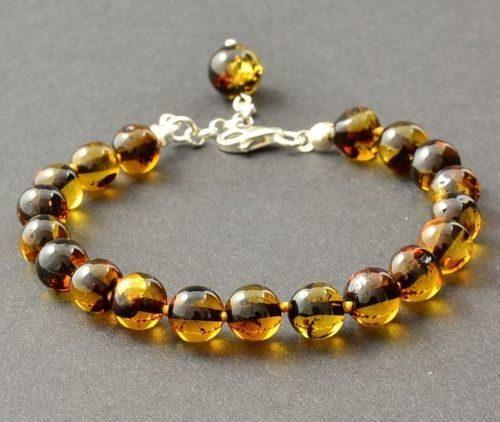 Amber Bracelet With Adjustable Clasp