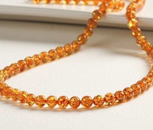 Amber Necklace Made of Precious Baltic Amber