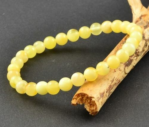 Amber Bracelet Made of Butterscotch Baltic Amber