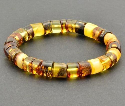 Men's Bracelet Made of Precious Healing Baltic Amber