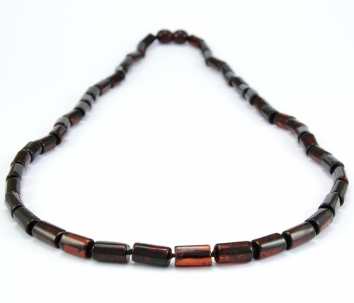 Men's Necklace Made of Cherry Healing Baltic Amber