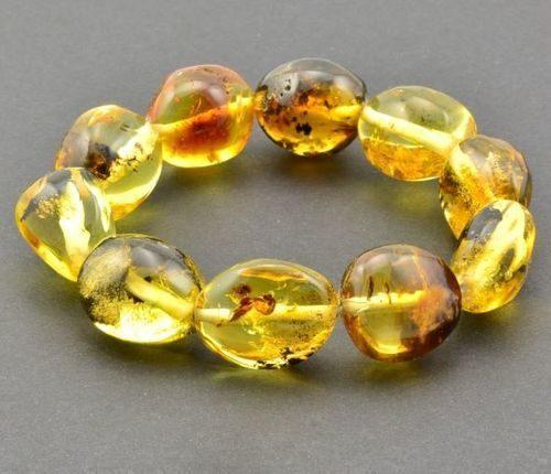 Amber Bracelet Made of Precious Healing Baltic Amber