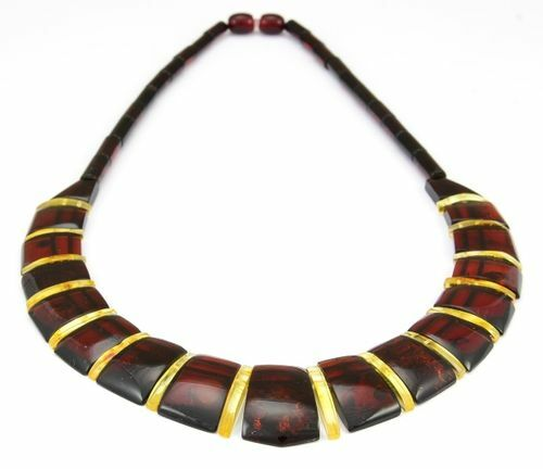 Cleopatra Amber Necklace Made of  Precious Baltic Amber