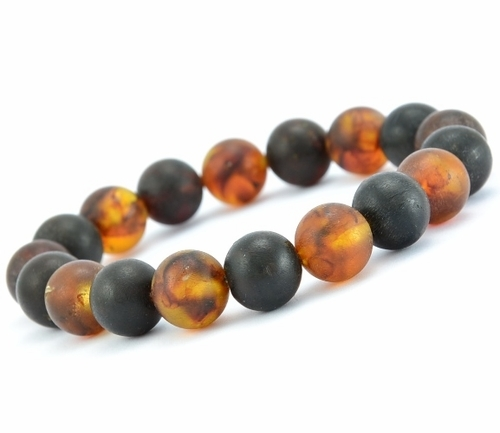 Amber Bracelet Made of Matte Healing Baltic Amber