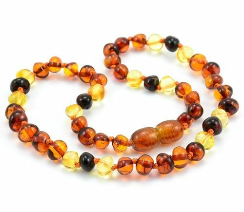 Children's Amber Necklace Made of of Precious Baltic Amber