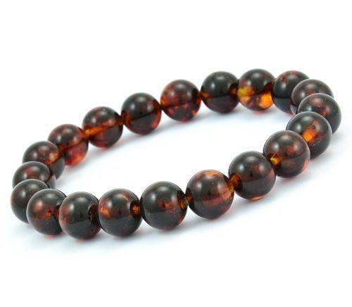 Beaded Bracelet For Men Made of Precious Baltic Amber
