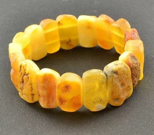 Raw Amber Bracelet Made of Precious Healing Baltic Amber