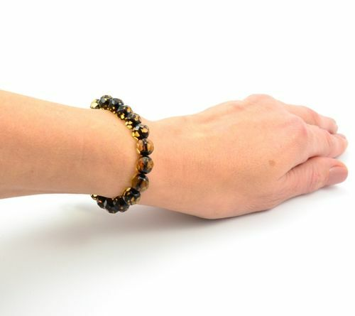 Faceted Amber Bracelet Made of Precious Healing Baltic Amber