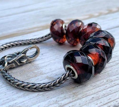 7 Pcs Wholesale Pandora Style Amber Charm Beads - SOLD OUT