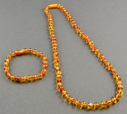 Children's Amber Bracelet with perfect companion for Mom