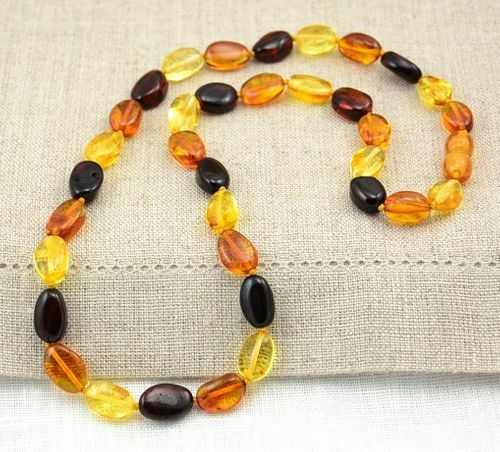 Amber Necklace Made of Healing Precious Baltic Amber