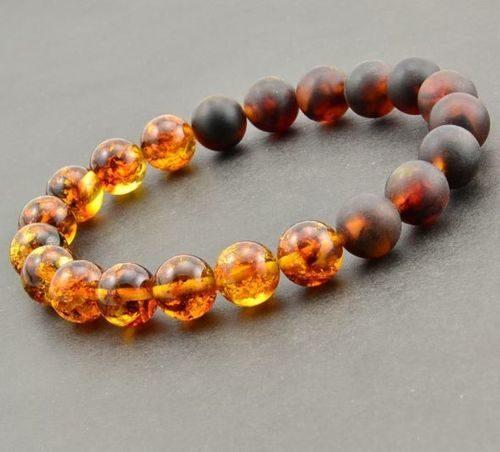 Beaded Bracelet For Men Made of Precious Healing Amber