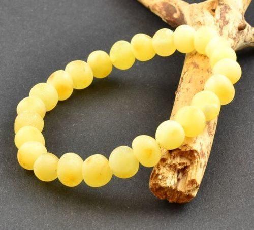 Raw Amber Healing Bracelet Made of Butterscotch Baltic Amber